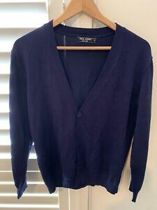 Paul Jones Mens Royal Blue Cardigan Size M
