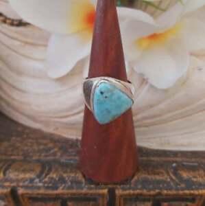 Larimar Emotional Healing Gemstone Ring US 9 (E1858)