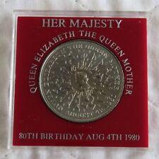 1980 QUEEN ELIZABETH THE QUEEN MOTHER UNC CROWN  - red surround