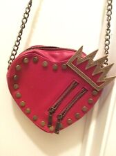 Disney Store Descendants Purse Hand Bag Heart Tiara Crown Evie