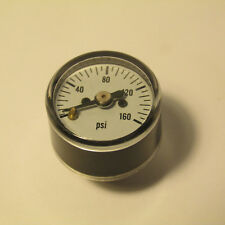 "LIVE STEAM ~0 TO 160 PSIG MINIATURE PRESSURE GAUGE (5/16-27) - 1"" DIAL - NEW"
