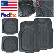 4pc US Car SUV Floor Mats Anti-slip Heavy Duty Rubber Front+Rear Waterproof Mat