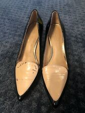 Coach Zayley Women's Pointed-Toe Pump Black Nude Patent Leather Heel Size 6B