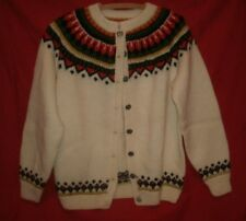 Husflids 100% Wool Hand Knitted In Norway Sweater Woman small venner trondheim