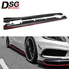 Carbon Fiber Side Skirts Extension for Mercedes W176 A45 A250 CLA W117 C117 AMG