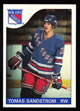 1985-86 O-PEE-CHEE #123 TOMAS SANDSTROM RANGERS ROOKIE