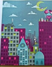 The Postal Service  Poster Reprint Cityscape Offset Lithograph 14x11 Indie Rock