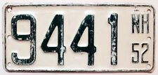 Vintage New Hampshire 1952 BOAT License Plate, 9441