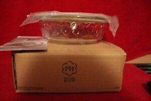 "L 3196 Princess House Fantasia Green Fresh Baker 1 Qt Shallow Round 9"" NIB RET"