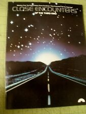 Close Encounters Of The Third Kind Movie Promo Book w/ Sheet Music Sci Fi 1978
