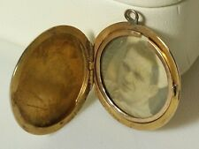 Antique 10K Pendant Locket SOLID Gold Vintage Used Old Picture 3.31 Grams Heart