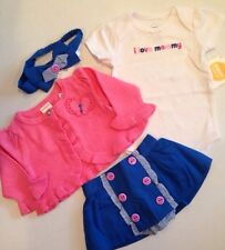 Gymboree ~ New Fall ~ Hippos & Bows ~ 0-3 M 4 Pc Outfit Lot ~ Twin! MSRP 73.00