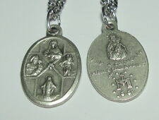 4-Way Cross Catholic Medal on Chain Scapular St Joseph & St Christopher & More!