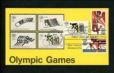 Ranto Cachet US FDC #2083 on 1460-62, C85 w/ C110 Olympic Games bicycle 1984