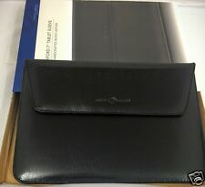 "NEW ACME JOSEPH ABBOUD OXFORD 7"" TABLET SLEEVE HANDCRAFTED BLACK GENUINE LEATHER"