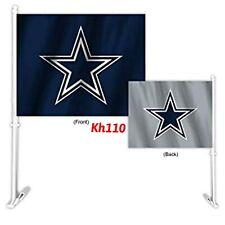NFL Dallas Cowboys Car Auto Flag & Pole 2 sided 2 Tone Color