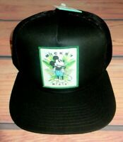 MENS NEFF DISNEY MICKEY MOUSE BLACK HAT SNAPBACK ADJUSTABLE CAP ONE SIZE