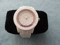 New Biodegradable Sprout Quartz Ladies Watch with a White Band