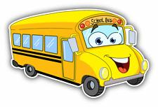 """Bus Funny Cartoon School Bus Car Bumper Sticker Decal 5"""" x 3"""""""