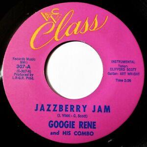 GOOGIE RENE Jazzberry Jam VINYL 45 Mod Soul Hammond R&B Popcorn Class Records Ex