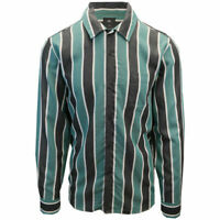 OBEY Men's Black & Green Wicker Stripe Camp L/S Shirt (S16)