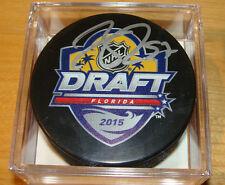 Коннор McDavid хоккейная шайба сертификат подлинности ПОДПИСАННЫЙ АВТОГРАФ 2015 НХЛ начального уровня проект куб