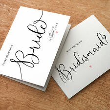 Will you be my Bridesmaid? Handmade Wedding Request Card Invite