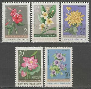 """VIETNAM du nord:  n°267/271 **, """"fleurs diverses"""""""