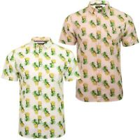 Mens Brave Soul 'Tupi' Hawaiian Pineapple Print Shirt