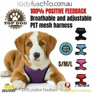 Small Pet Dog Cat Puppy Soft Leash VEST Mesh Breathable Adjustable Harness Cloth
