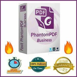 Foxit PhantomPDF Business Full Version Creator Converter PDF EDITOR Lifetime