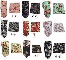 Ivory Cream Floral Flower Skinny Frederick Thomas Designer Linen Mens Tie