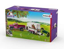 SCHLEICH® HORSE CLUB® 42346 Pick-up mit Pferdeanhänger, NEU & OVP