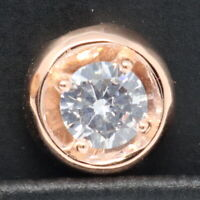 2 Ct Round Solitaire Diamond Pendant Charm SOLID 14k Rose Gold Women Jewelry