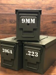 Ammo Can Vinyl Decals - Various Bullet Calibers - Label Stickers (2)