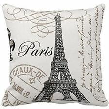 18 Paris Eiffel Tower Stamp Home Decorative Pillow Case Sofa Waist Cushion Cover