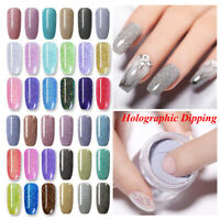 NICOLE DIARY Holographic Dipping Powder Gel Acrylic Tips Nail Art Starter Kits