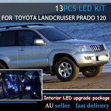 13pcs Auto White Led Interior Light Upgrade Kit For Toyota Landcruiser Prado 120