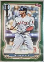 2020 Topps Gypsy Queen #136 RAFAEL DEVERS Green Parallel Boston Red Sox
