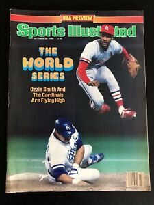 1985 Sports Illustrated The World Series Ozzie Smith Cardinals KC Royals NoLabel