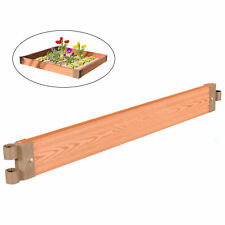 New Classic Durable Wood- Look Raised Outdoor Garden Bed Flower Planter Box
