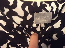 ❤️ Ghost London❤️ Dress Body Con Size 16-18 Black White Monochrome Work