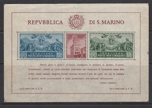 San Marino ~ 1945 Gov't Palace, Souv. Sht. Perf  Sc# 239  **/NH  cv$115 (ar09)