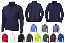 MEN'S 1/2 ZIP, WICKING PERFORMANCE PULLOVER w/BRUSHED BACKING, TALL LT-4XLT