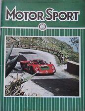Motor Sport Magazine June 1968