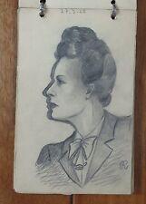 ANDRE RUFFIN 1942 rare carnet de dessins et croquis portraits de femmes
