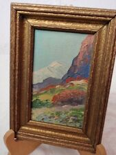 Oil Board Original Painting Old Baldy California Impressionist Gilt Wood Frame