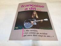 FRANCOISE HARDY - Mini poster couleurs 3 !!!