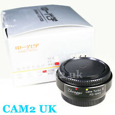 Zhongyi Focal Reducer Lens Turbo II Booster Canon FD to Micro 4/3 Adapter OM-D