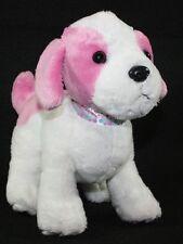 "Webkinz Plush PUDDING PUP 9"" Pink Puppy DOG Stuffed Soft Toy Polka Dot Collar"